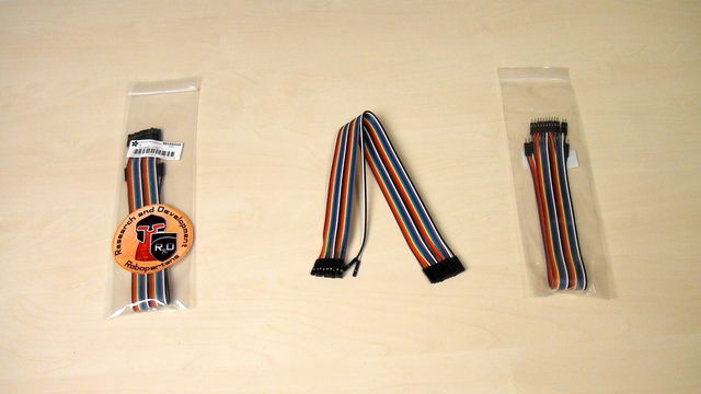 Image for Types of breadboard jumper cables in the set for the Perfect Course.