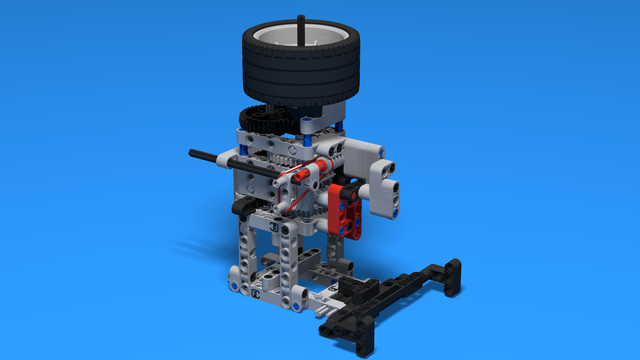 Image for Pinless Flywheel and Rubber band attachement for LEGO Mindstorms robots