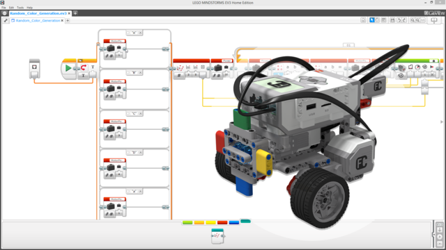 Image for EV3-G MyBlock for rotating the color wheel randomly