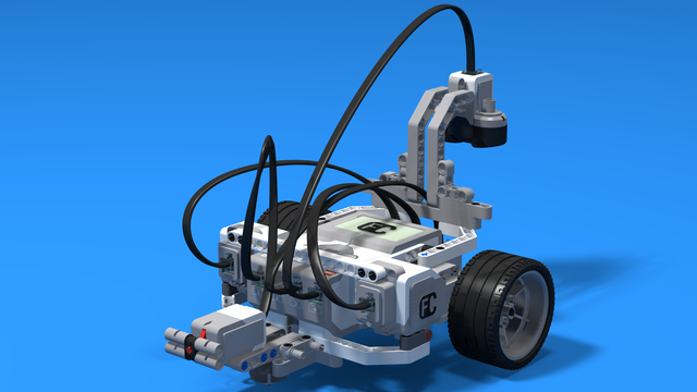 Image for Umjaho - the relay line following robot built with LEGO Mindstorms EV3