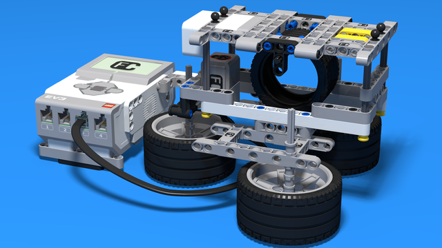Image for SecurityPlate, a pressure plate detecting the weight changes with light sensor built with LEGO Mindstorms EV3
