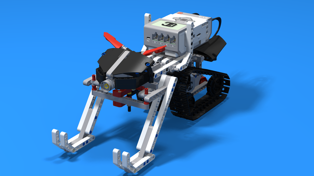 Image for SkiD00, the LEGO Mindstorms EV3 Snowmobile robot