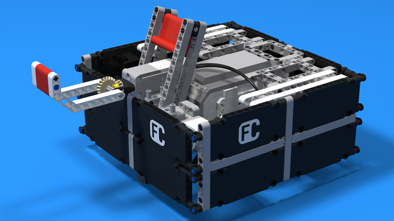 Image for Iftx, a useless machine built from LEGO Mindstorms EV3