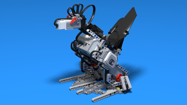 Image for Alice, the rooster robot, built with LEGO Mindstorms EV3