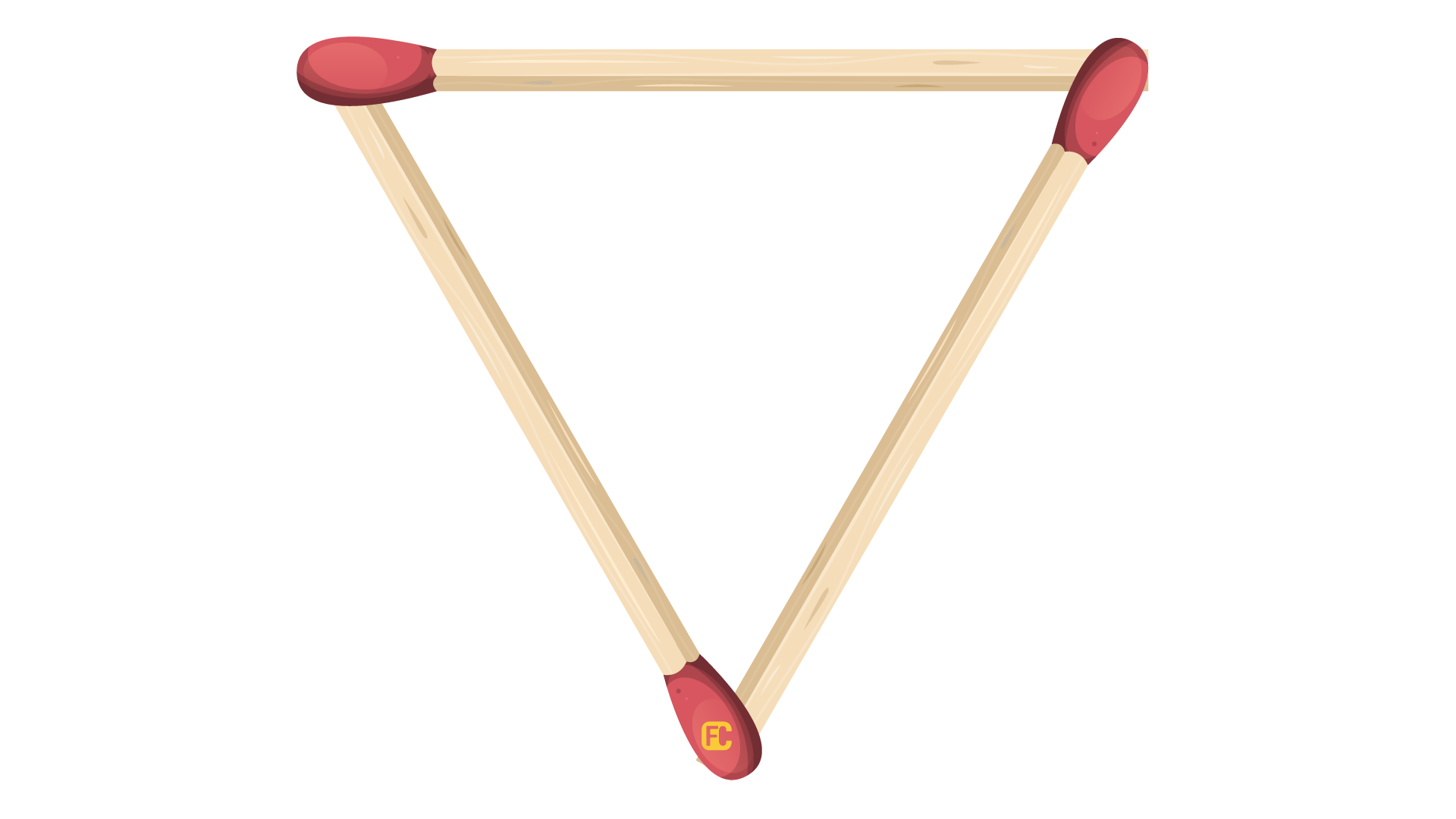 Triangle from matches