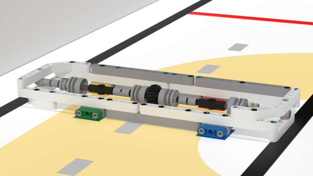 Image for Speed bump mission model. FLLCasts Off-season Challenge 2019