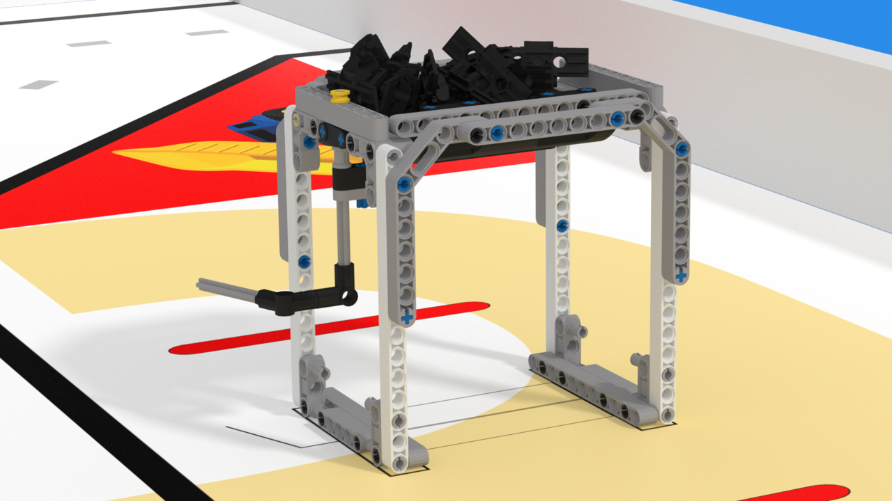 Image for Dispenser mission model. FLLCasts Off-season Challenge 2019
