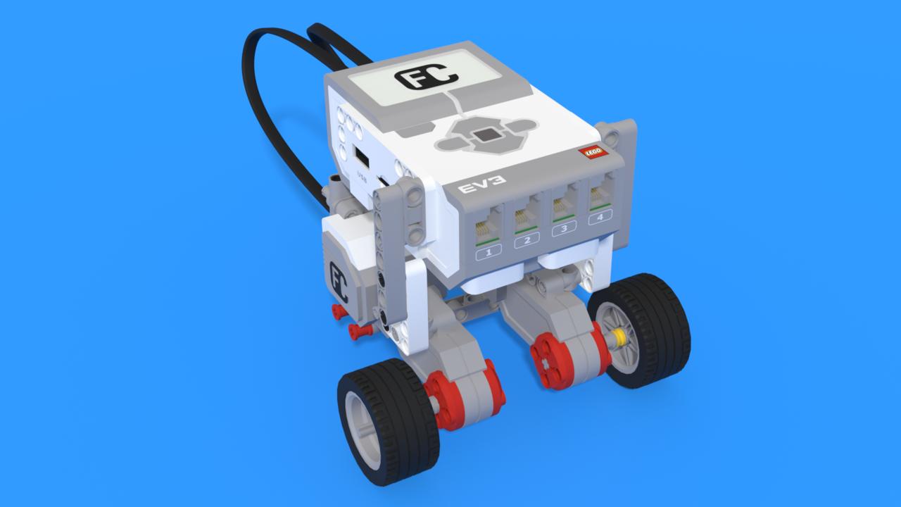 Image for Прилепчо - ЛЕГО робот с прикачване на моторите отдолу без опорно колело