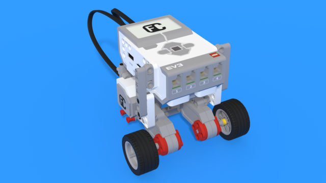 Image for Batty - Underside Motor Attachment LEGO Robot without steering wheel