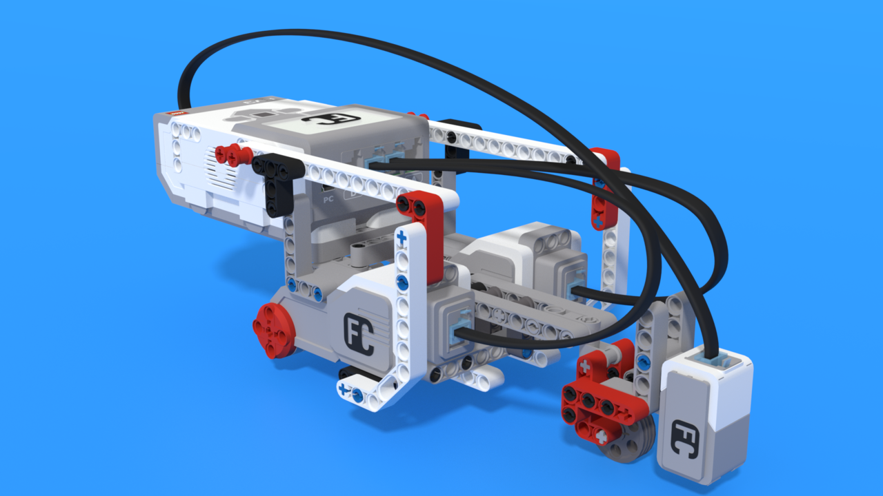 Image for Color sensor attachment for Inertia Bot - LEGO Mindstorms Robot with a large inertia cargo