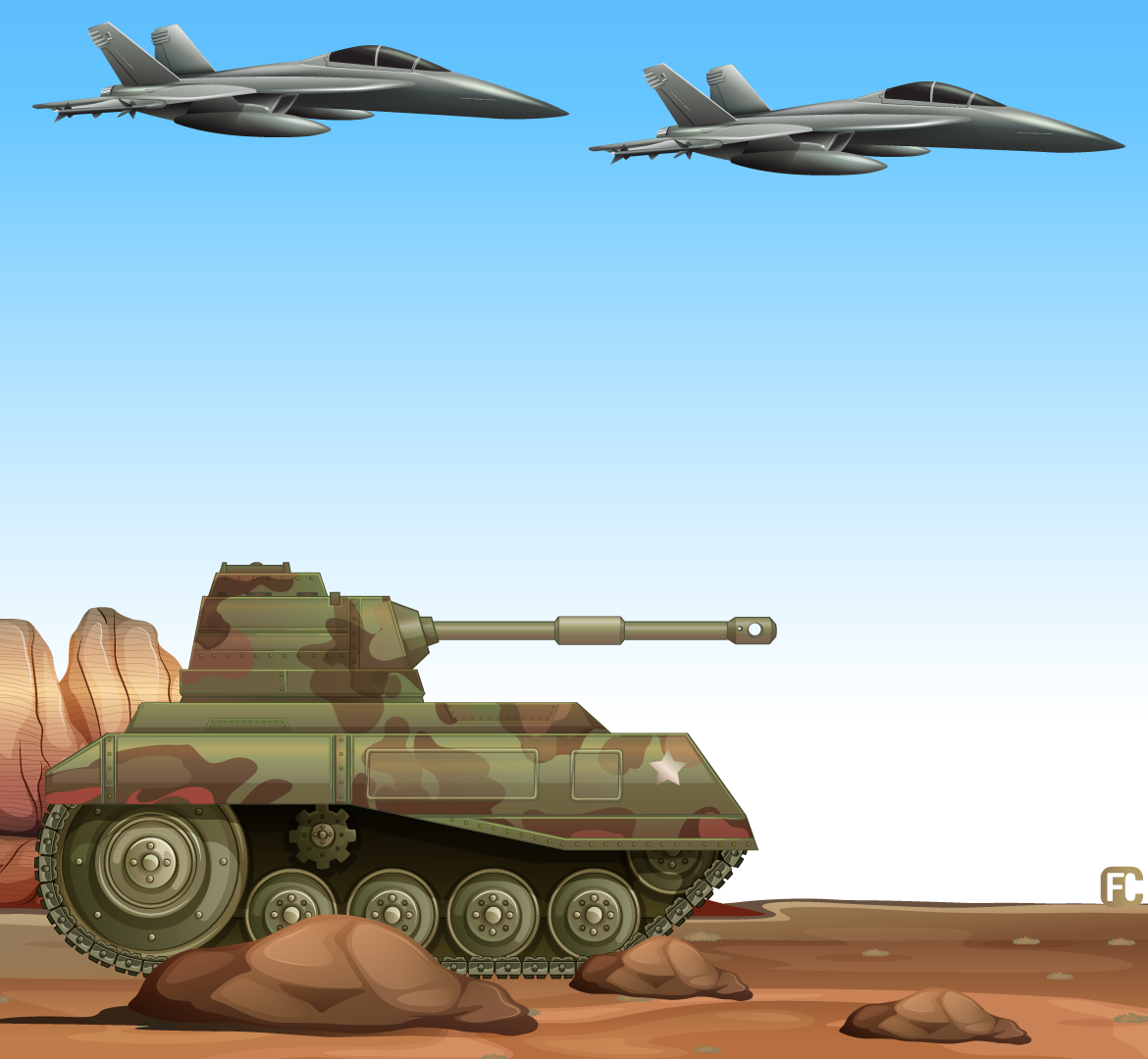 Tanks and planes