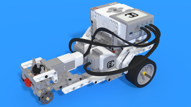 Image for Drag car with two motors - LEGO Mindstorms EV3 car