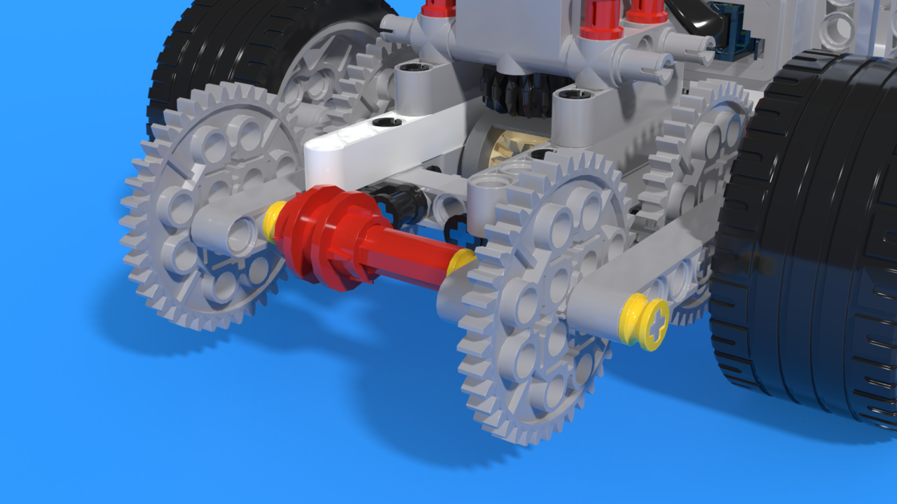 Image for Differential locking mechanism - simple LEGO EV3 attachment for robot Francesco 2
