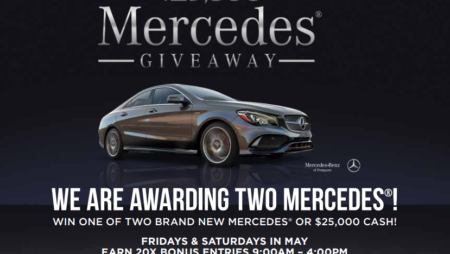 Beginning Today Win One of Two Brand New Mercedes® or $25,000 Cash at Isles Casino