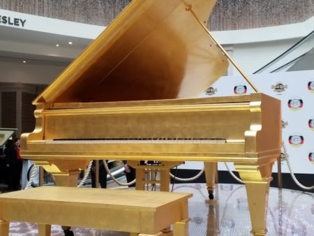Elvis Presley's Gold Leaf Grand Piano Takes Center Stage In Tampa