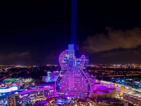 Star-Studded Grand Opening Celebration Of The Guitar Hotel (Video)