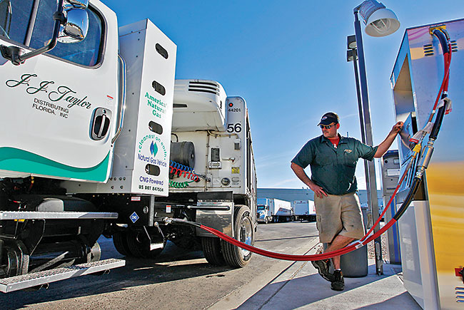 delivery truck runs on CNG