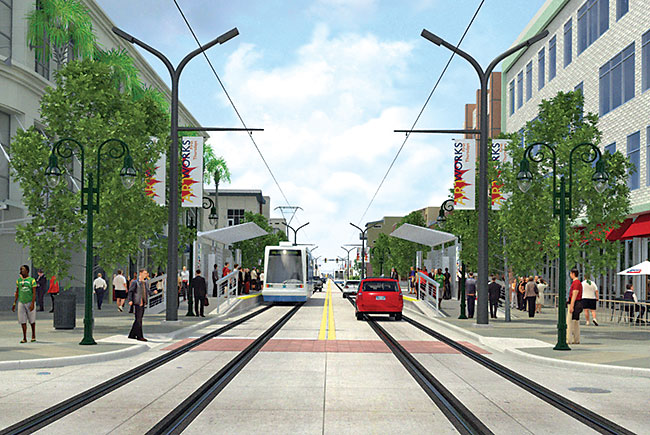The Wave - streetcar in Fort Lauderdale