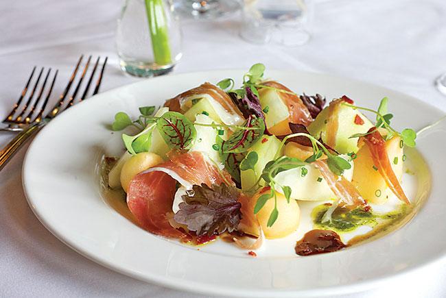 Melon salad, Cypress Room