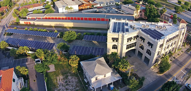 Great Bay Distributors' roof will be a shining example