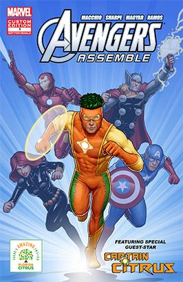 Avengers with Captain Citrus