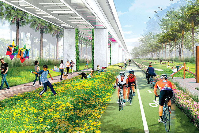 Proposed: A 10-mile 'linear park' underneath Miami's Metrorail