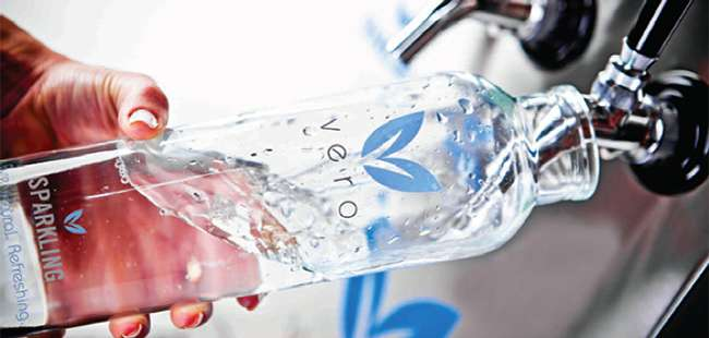 Making a splash: Less expensive bottled water from Vero Water