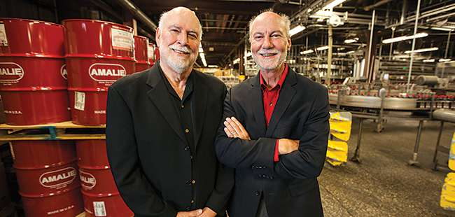 Oil men: Amalie Oil's Harry and Rick Barkett
