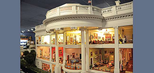 Thinking small: John Zweifel's miniature White House