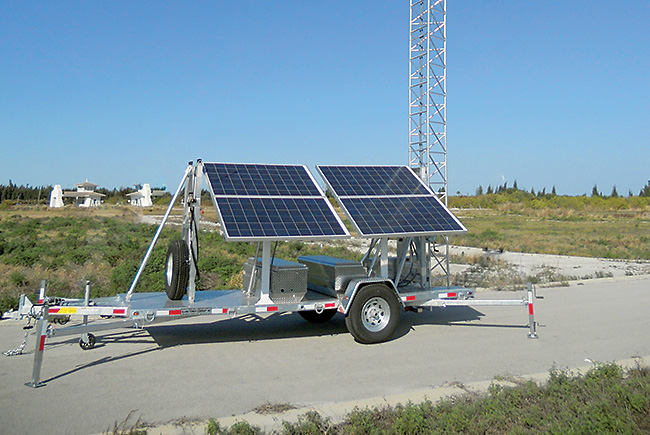 Sending a signal: Aluma's mobile towers and antennas travel