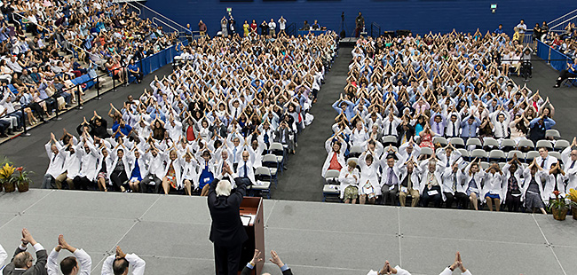 NSU Hosts White Coat Ceremony for First M.D. Class and 38th Entering D.O. Class