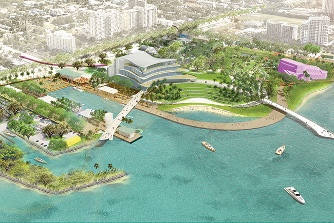 Sarasota waterfront rendering