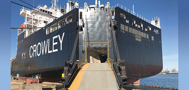 Coming clean: Crowley Maritime launches an LNG-powered ship