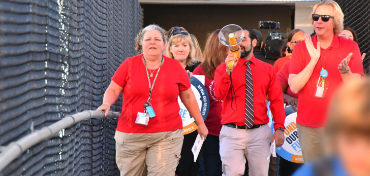 Florida teachers call for increase in education spending with statewide walk-in