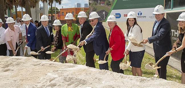 Groundbreaking for mental health center truly breaks new ground
