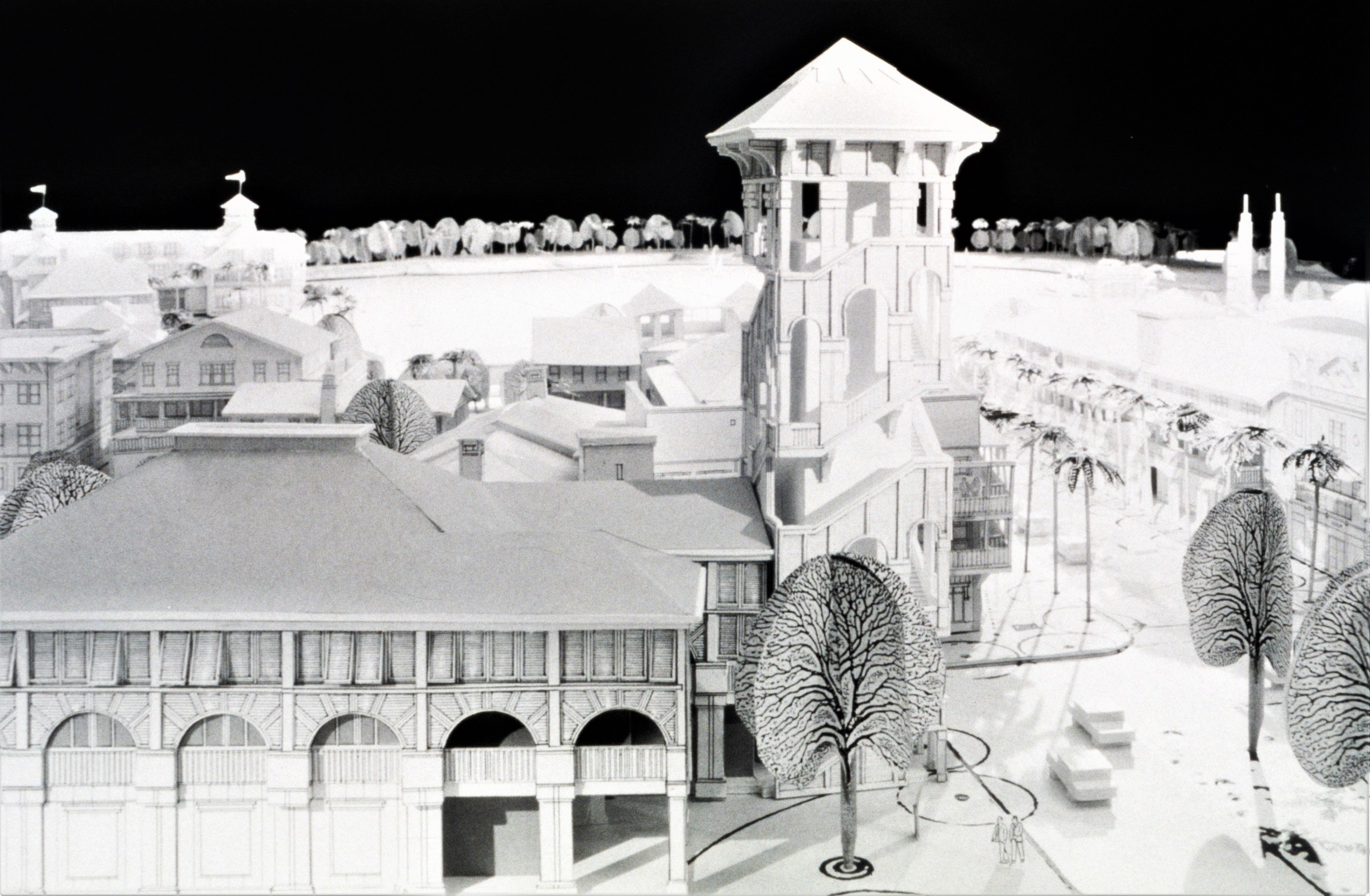Scale Model of Town Center