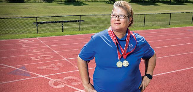 Special Olympics athlete Maryann Gonzalez