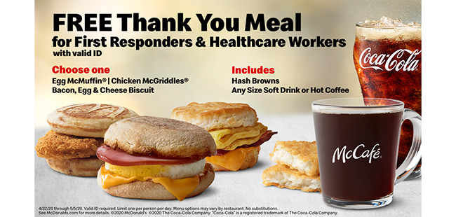 Costa Enterprises Mcdonald S Offers Thank You Meals For First Responders Florida Trend
