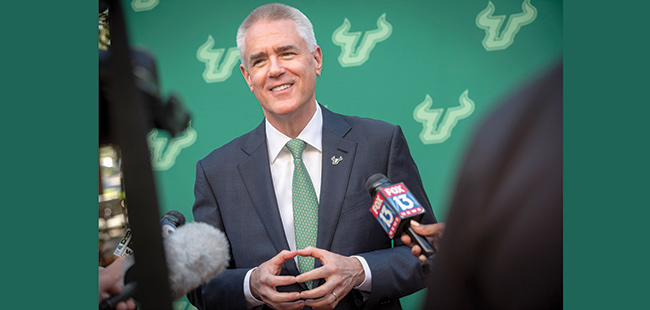 USF's new president Steve Currall