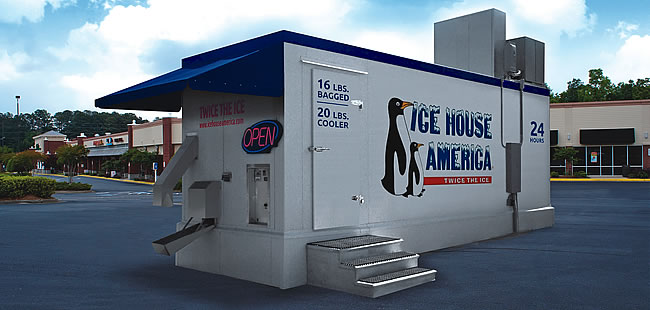 Ice House America A Network Of Self Service Ice Machines