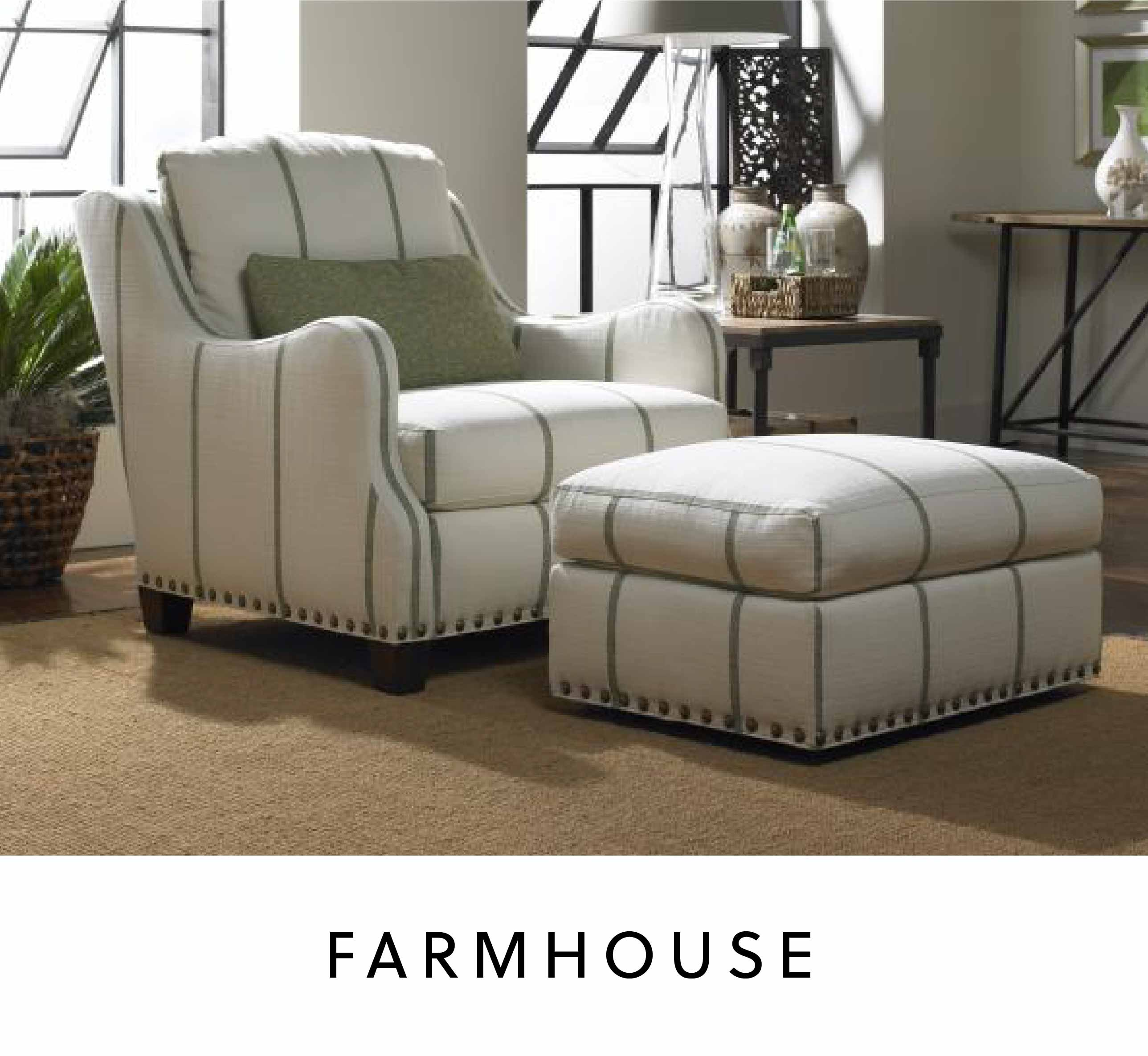 farmhouse style armchair