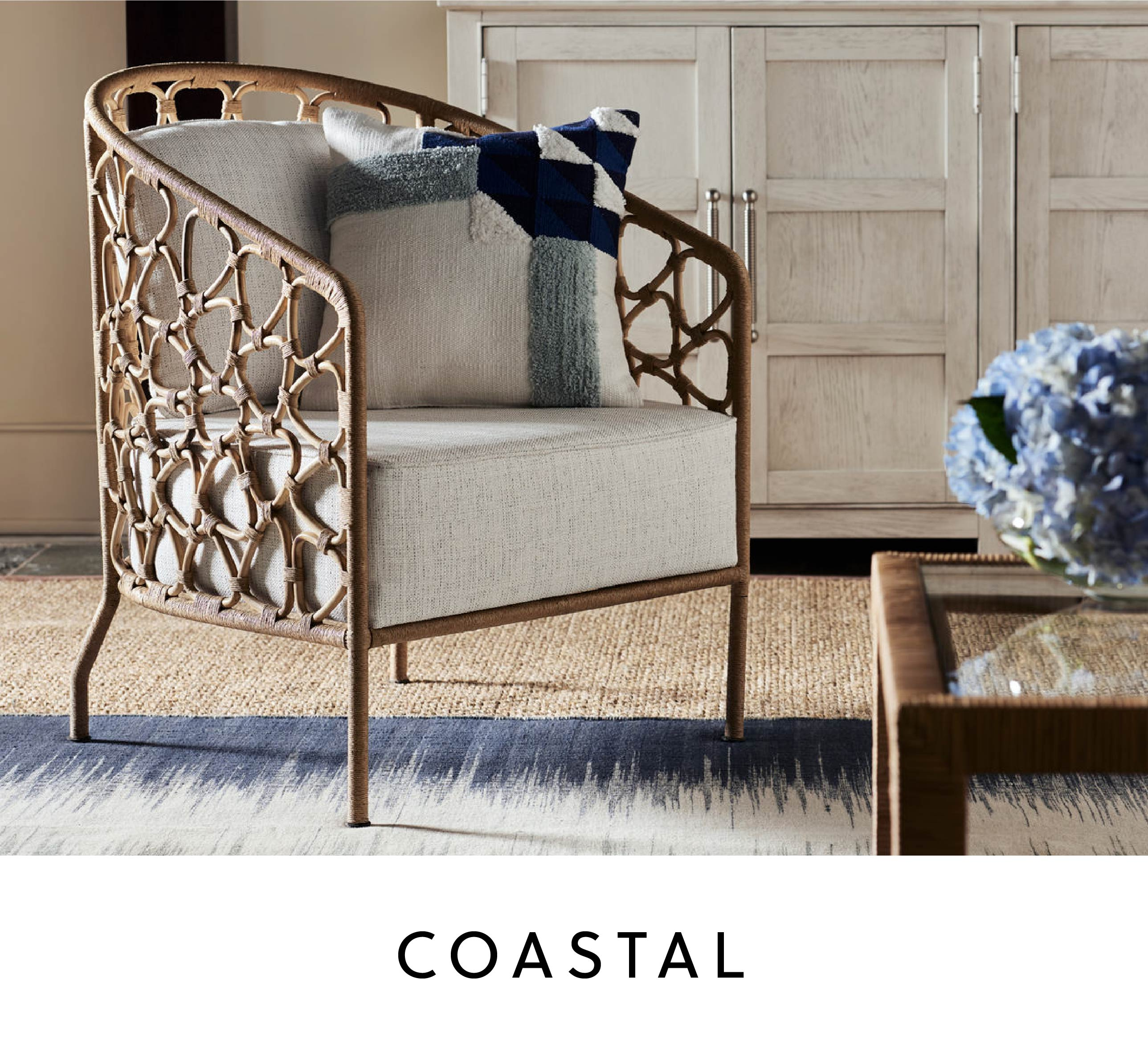 natural-look coastal armchair