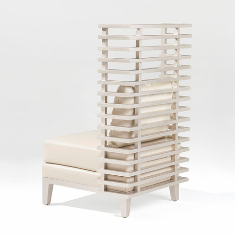 Adriana Hoyos - Chocolate Upholstered Chair - CH10-140