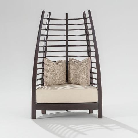 Adriana Hoyos - Chocolate Iconic Upholstered Chair - CH10-900