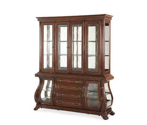 Michael Amini - Glass Encased China Cabinet with Display Shelving - 02000-CHINA