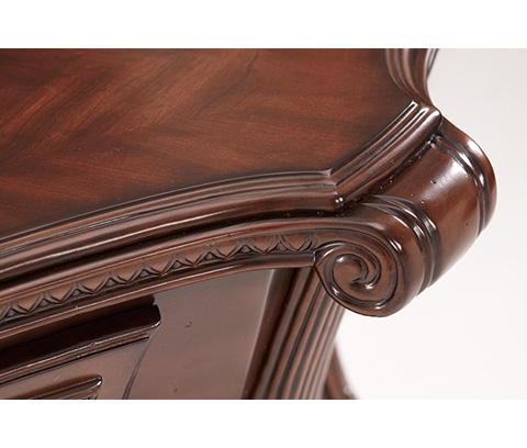 Michael Amini - Console Table with Elegant Metal Scroll Detail - 02223-53