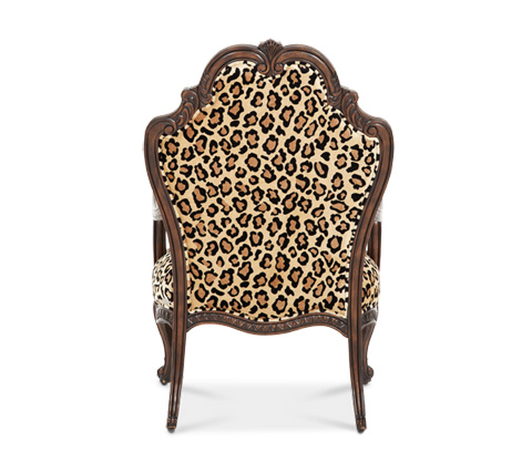 Michael Amini - Accent Chair with Exposed Wood Trim - 02834-LEOPD-53