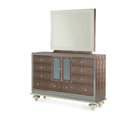 Michael Amini - Mirrored Front Door Dresser - 03050-33