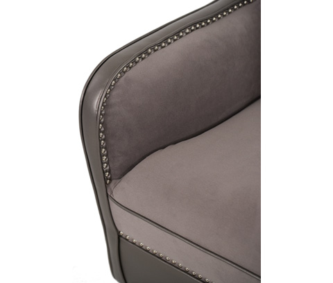 Michael Amini - Swivel Upholstered Chair - 03839-SILVR-00