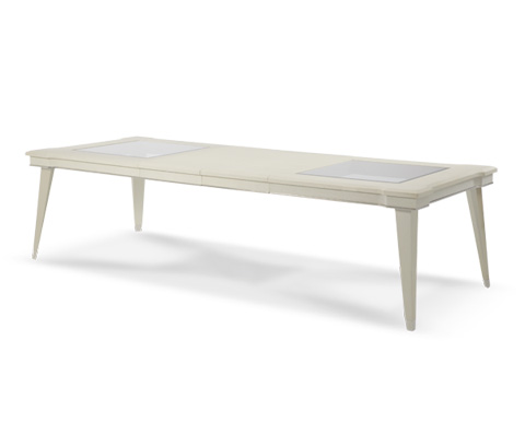 Michael Amini - Pearl Caviar Dining Table with Glass Inserts - 06000-11